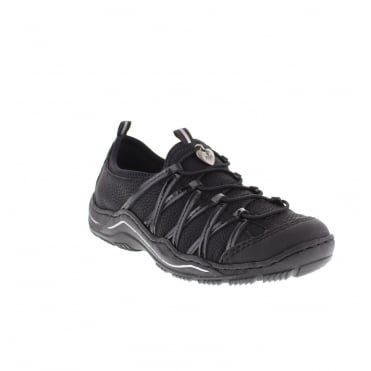 Rieker L0559-00 Ladies Black Lace shoes