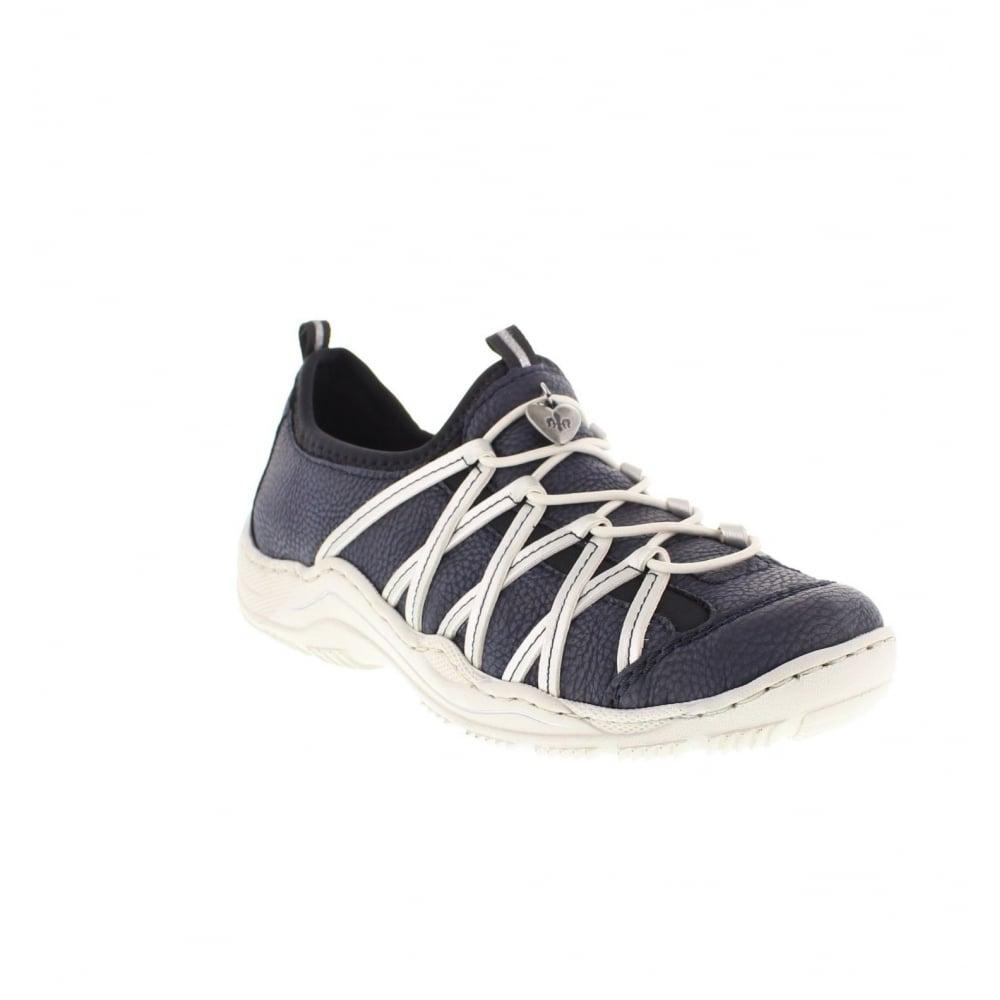 rieker l055914 ladies blue lace shoes rieker ladies