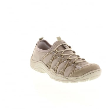 Rieker L0559-41 Ladies Grey Lace shoes