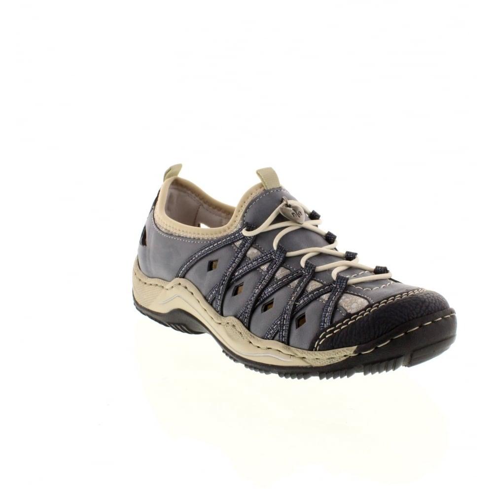 rieker l056714 ladies blue lace shoes rieker ladies