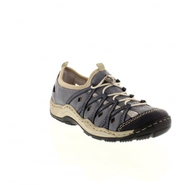 Rieker L0567-14 Ladies Blue Lace shoes