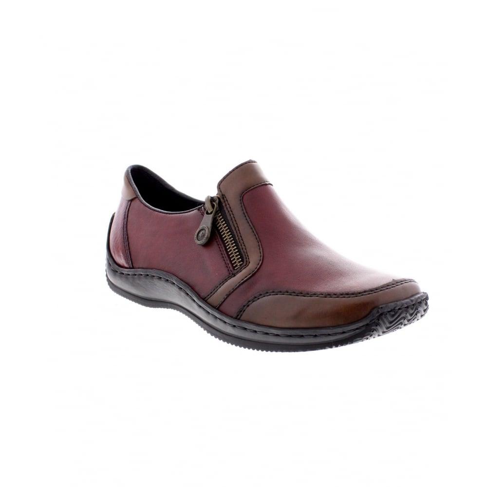 Rieker L1750 26 Ladies Red Shoe Rieker Ladies From Rieker Uk