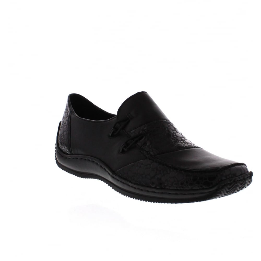 Rieker L1762-48 Womens Black Combination Slip On Shoe ...
