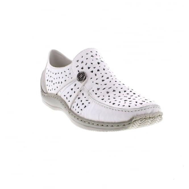 Rieker L1766-80 Ladies' white shoes