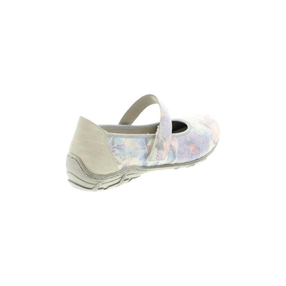 Rieker L2062-90 Ladies Multicoloured Metallic hook and loop shoes ... 1da77ba45626