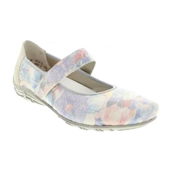 Rieker L2062-90 Ladies Multicoloured/Metallic Velcro shoes