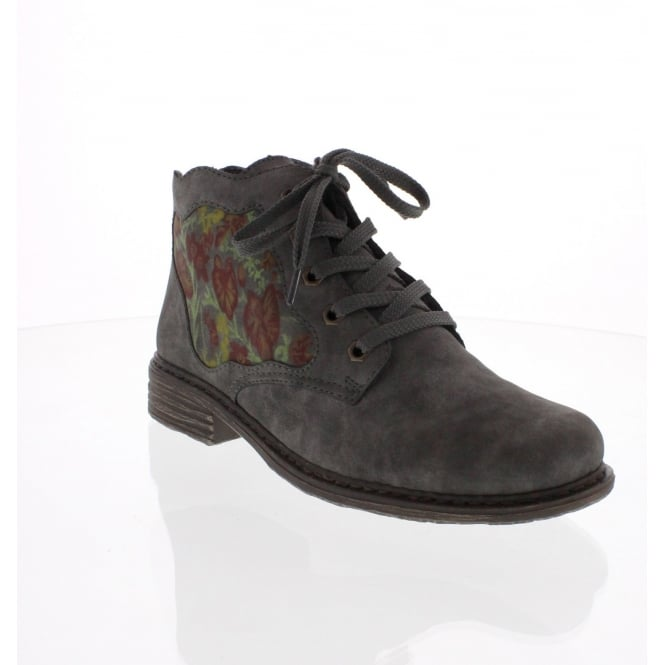 Rieker L2133-45 Womens Grey Ankle Boot