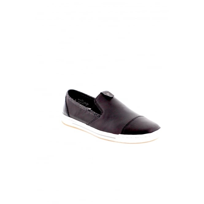 Rieker L3051-00 Black Slip on Shoes