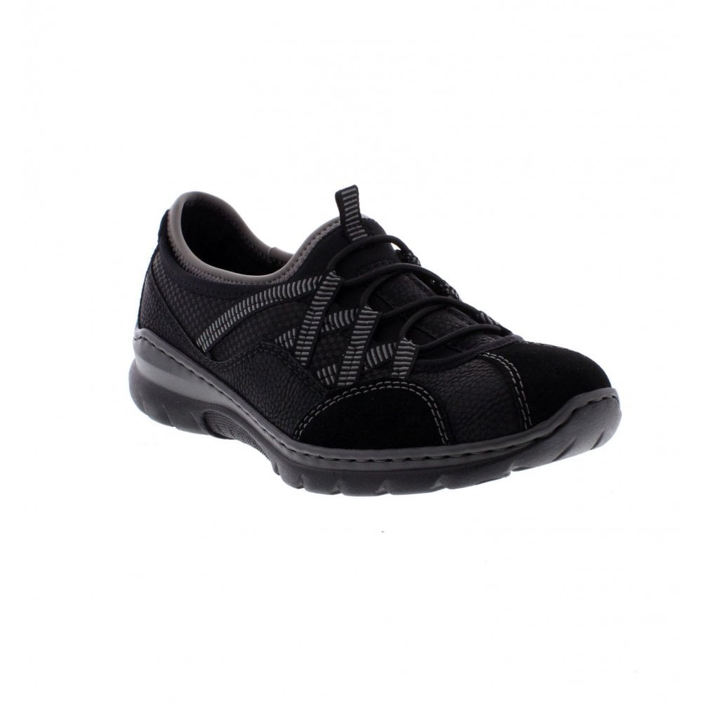 Rieker L3251-00 Ladies Black casual shoes - Rieker Ladies ...