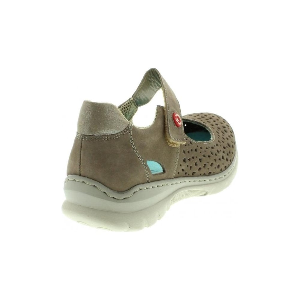 the latest 4d97a df5f8 L3255-44 Ladies Grey hook and loop