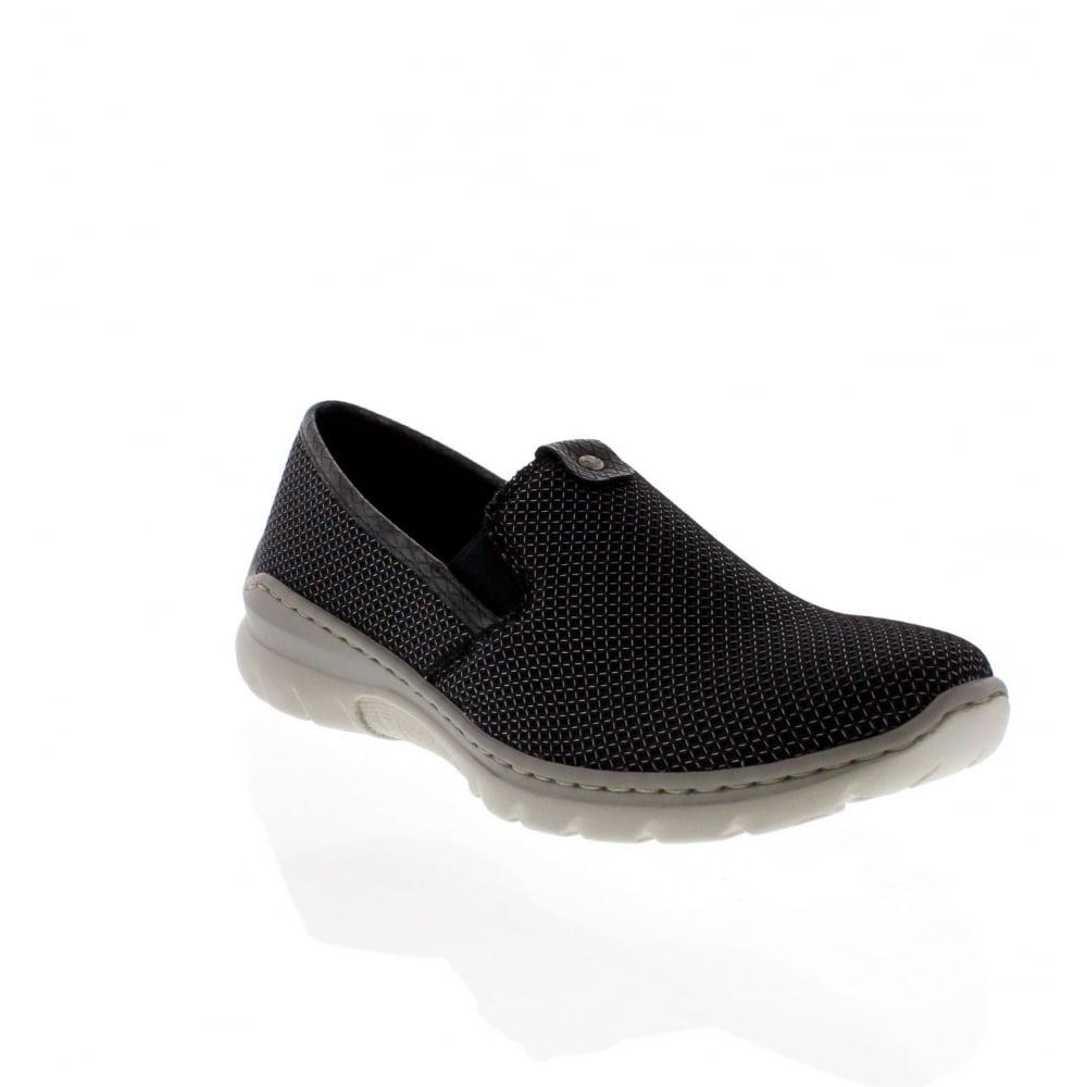 Black sandals debenhams - Rieker L3272 00 Ladies Black Combination Slip On Shoes
