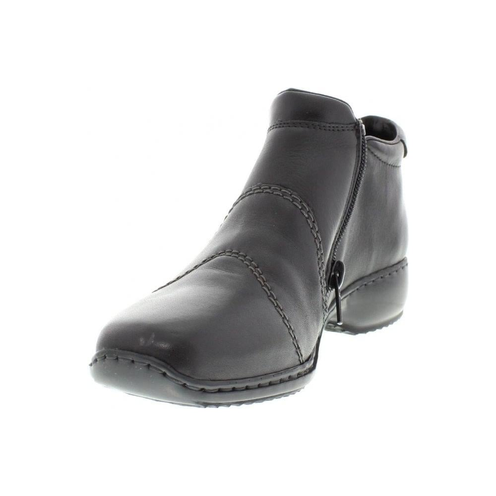 bf7d5648d0 Rieker L3892-00 Ladies Black Zipper ankleboots