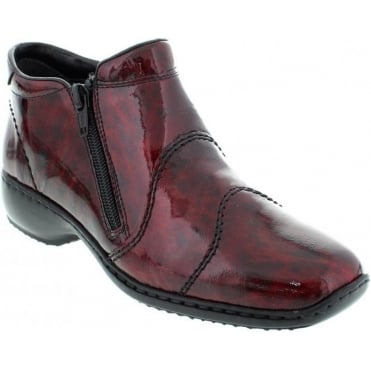 Rieker L3892-37 Red Combination boot