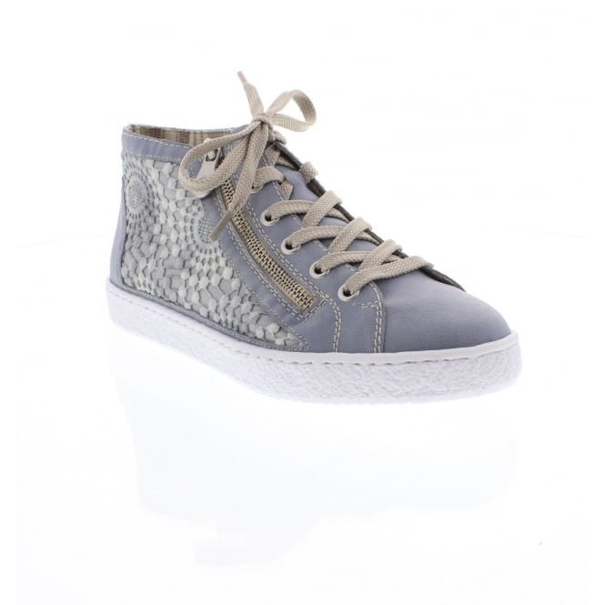 Rieker L4812-12 Ladies blue/grey ankle boots