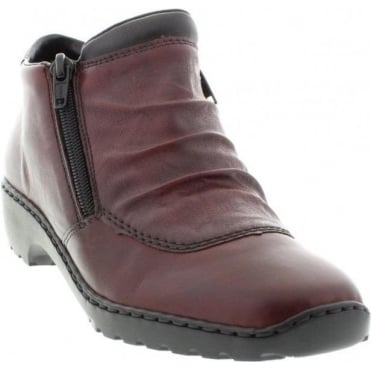 Rieker L6052-35 Red Combination boot