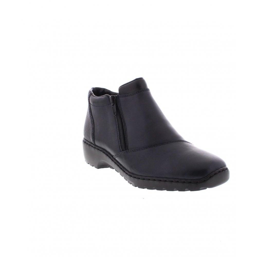 1c5255fd06298 Rieker L6091-15 Ladies Blue Combination Ankle Boots - Rieker Ladies ...