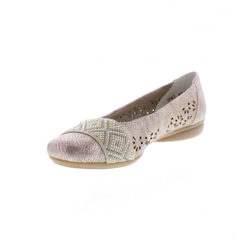 Details about Rieker Ladies Ballerina Flats L8357