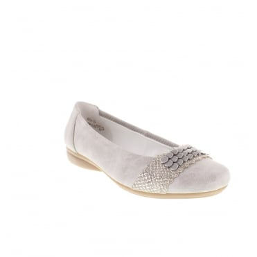 Rieker L8360-41 Ladies Grey Slip on shoes