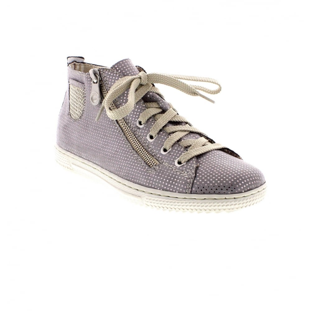 Rieker L9402-42 Ladies grey and silver ankle boots - Rieker Ladies ... cfb07a8f52