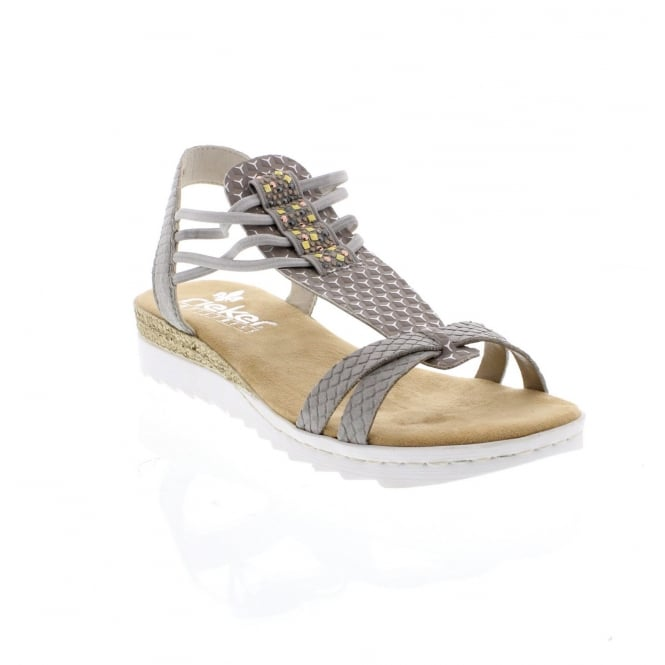 Rieker Ladies 63029-42 Ladies' grey sandals