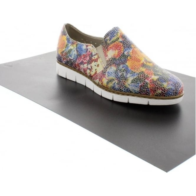 Rieker M1356-90 Ladies Multicoloured/Metallic Slip on shoes