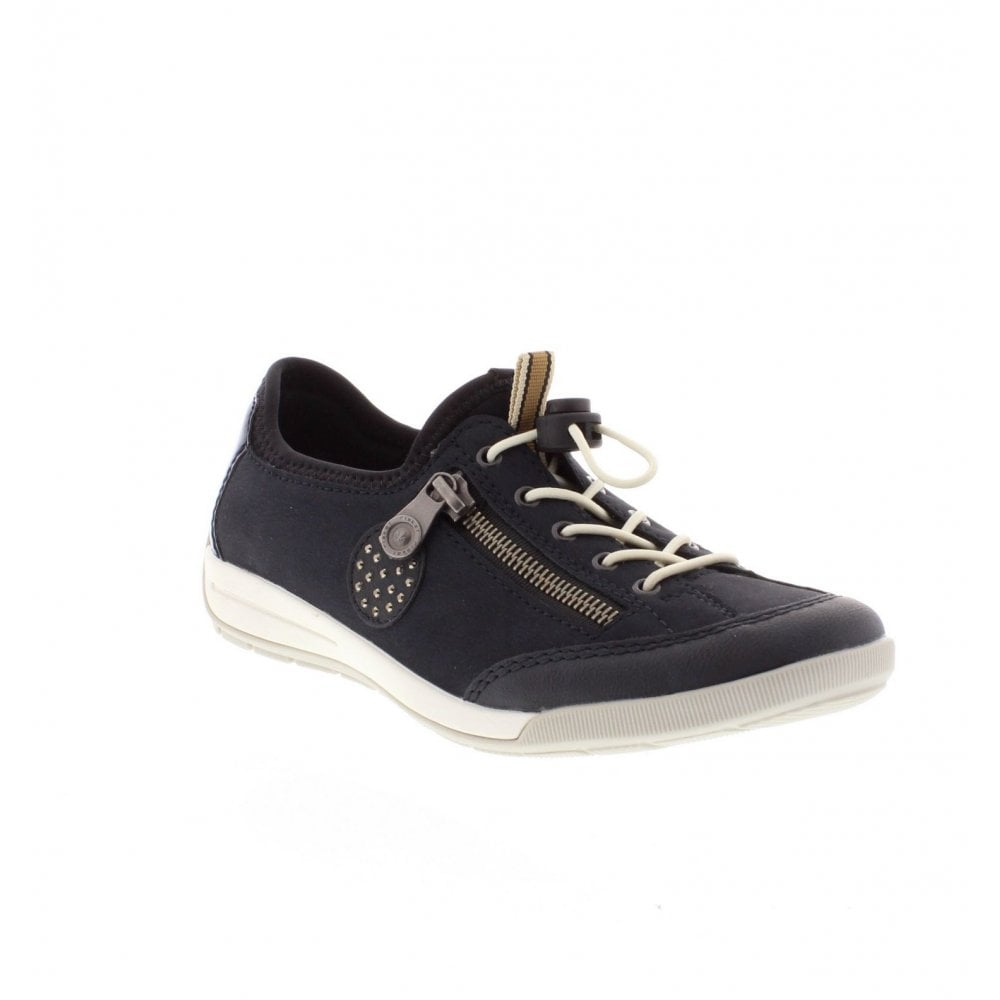 1768ee96a083b Rieker M3063-15 Ladies Dark Blue Casual Shoes - Rieker Ladies from ...