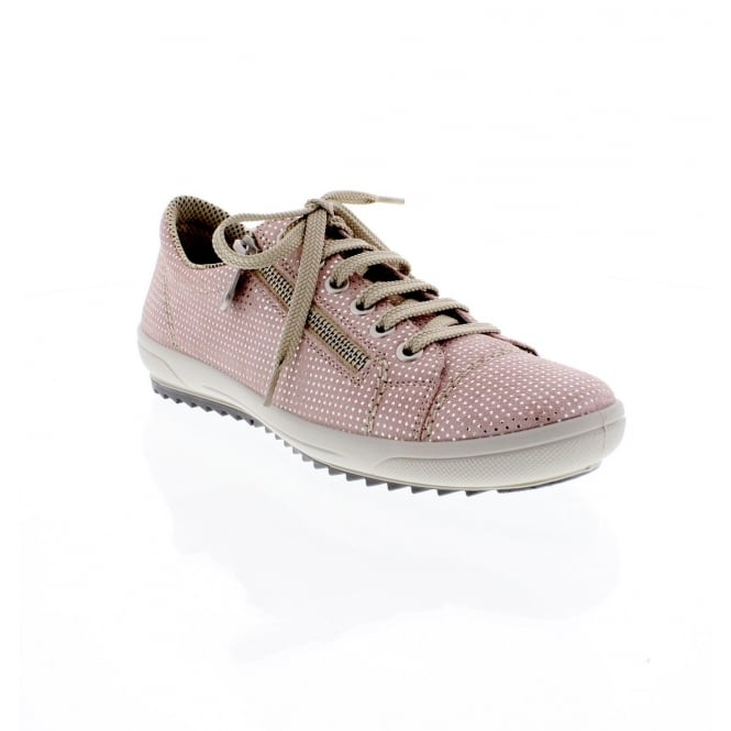 Rieker M6012-31 Ladies pale pink lace up shoes