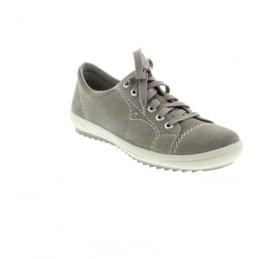 Rieker M6014-42 Ladies Grey Lace shoes
