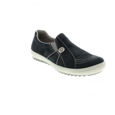 Rieker M6052-14 Ladies Blue Slip on shoes