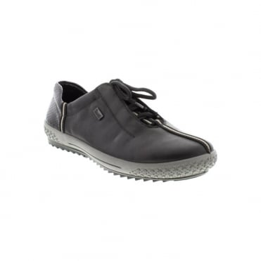 Rieker M6110-00 Ladies Black Lace Up shoes