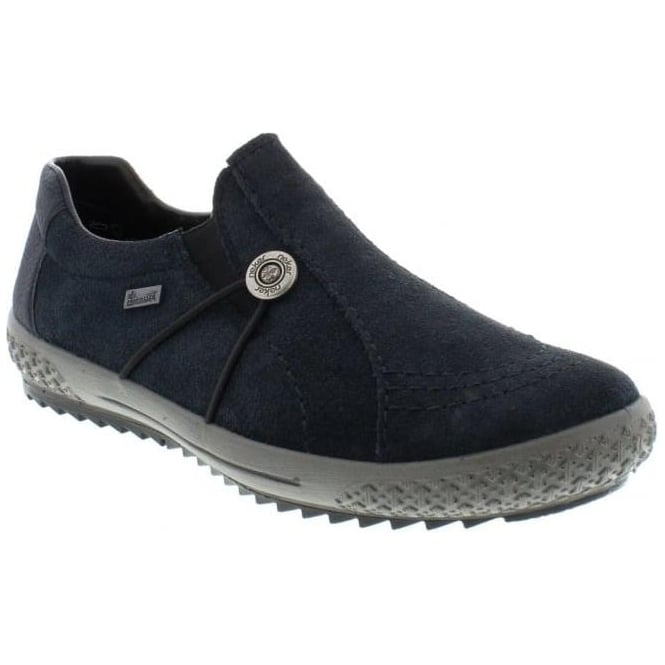 Rieker M6161-15 Ladies Blue Slip on shoes