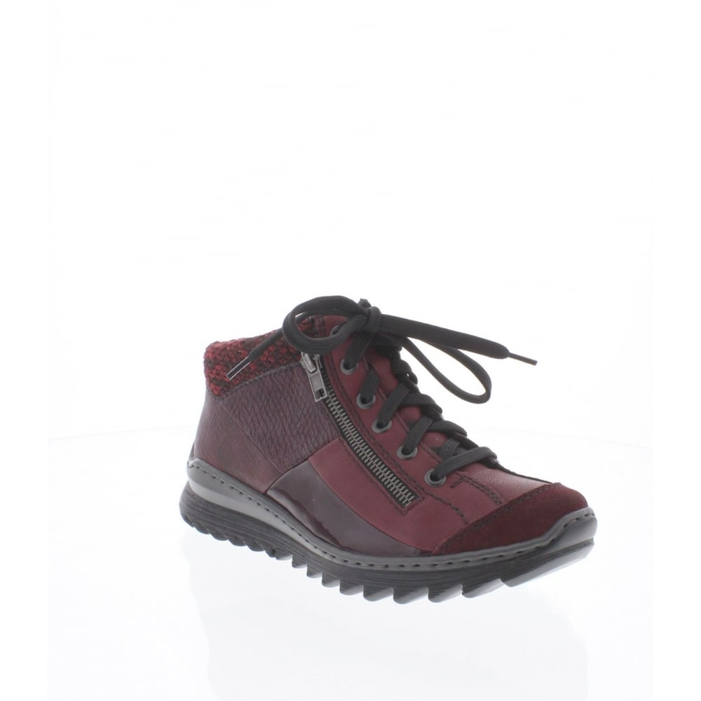 5fcbb45d782f Rieker M6243-35 Womens red combination ankle boot - Remonte Ladies from Rieker  UK