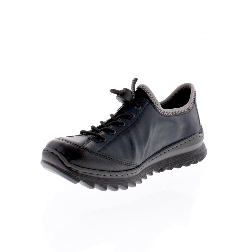 Rieker women slip on shoe blue N3268 01