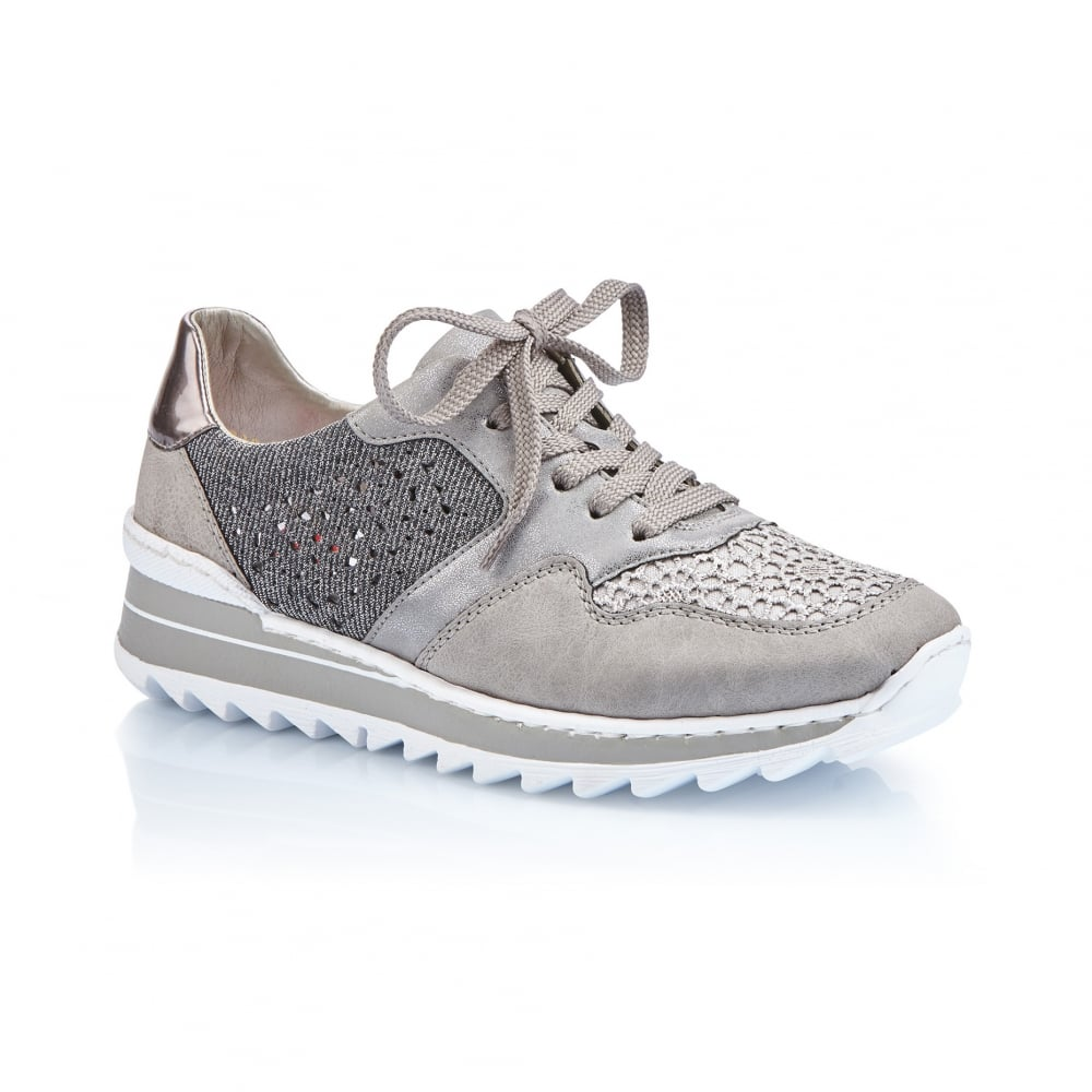862b0a88e0 Rieker M6915-42 Ladies Grey Lace shoes - Rieker Ladies from Rieker UK