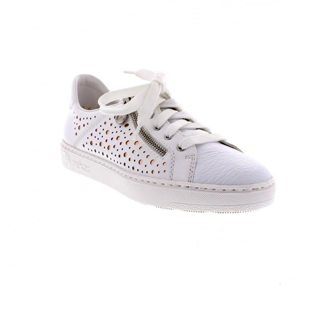 new concept 74534 f69b8 M7928-81 Ladies white trainer shoes