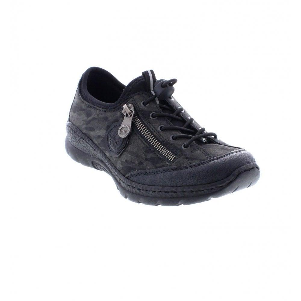 Rieker N2263-00 Ladies Black Slip On