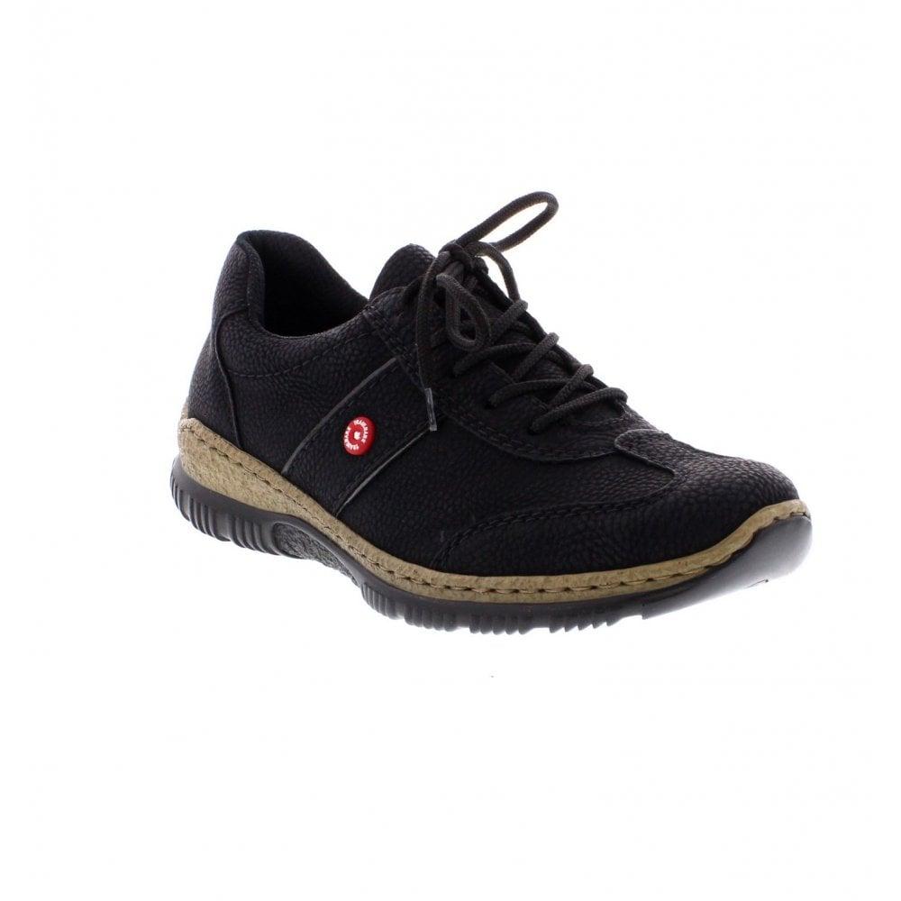 Rieker N3220 01 Ladies Black Combination Shoes