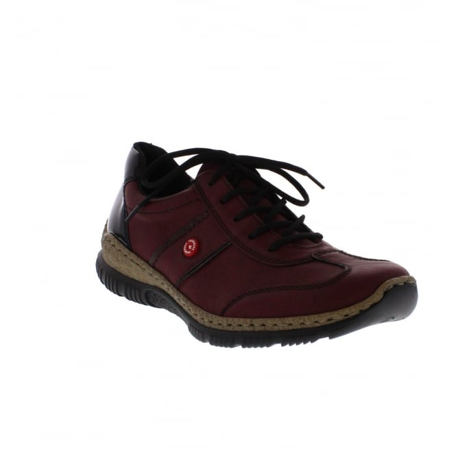 Rieker N3220-35 Womens Red Combination Shoe