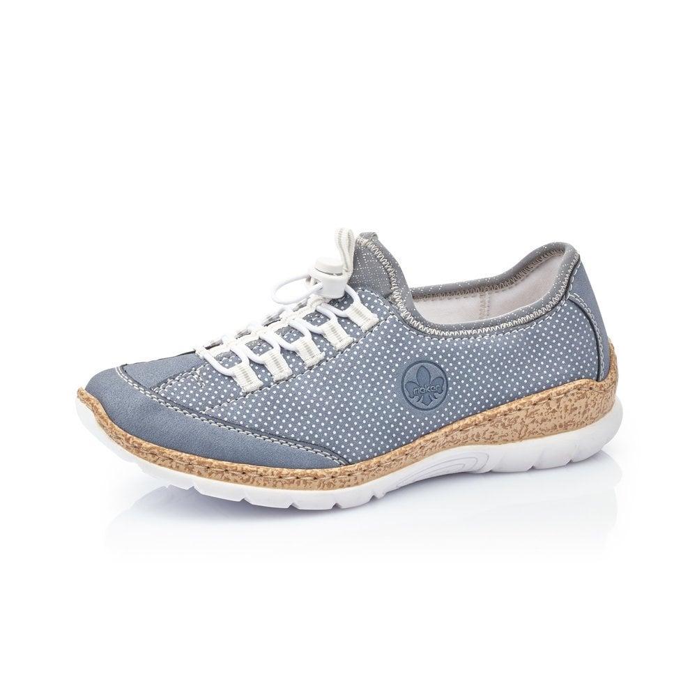 Rieker N42M8-14 Ladies Blue Slip On