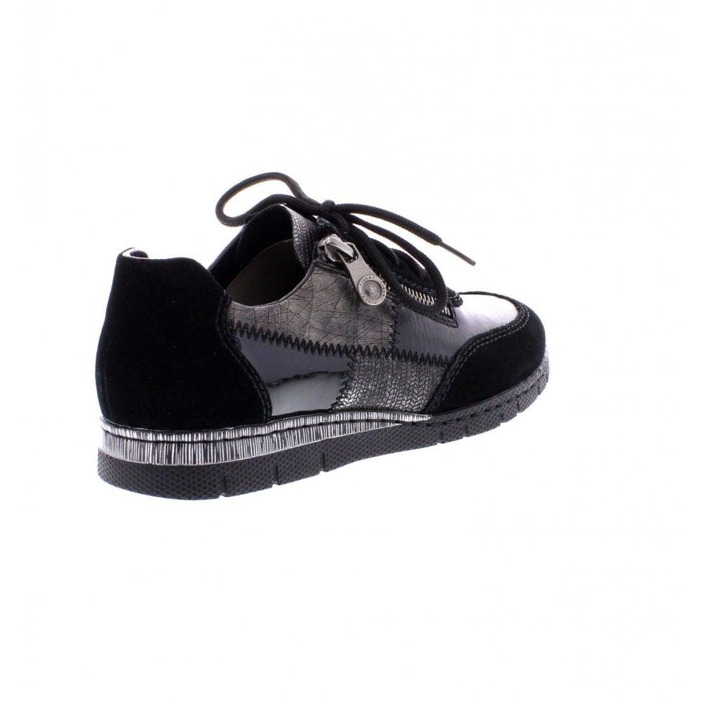 031d8fddf32 Rieker N5320-00 Ladies Black combination shoes - Rieker Ladies from ...