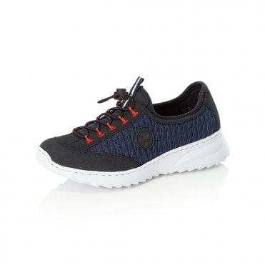 Rieker N6072-14 Ladies Blue Slip On Shoes