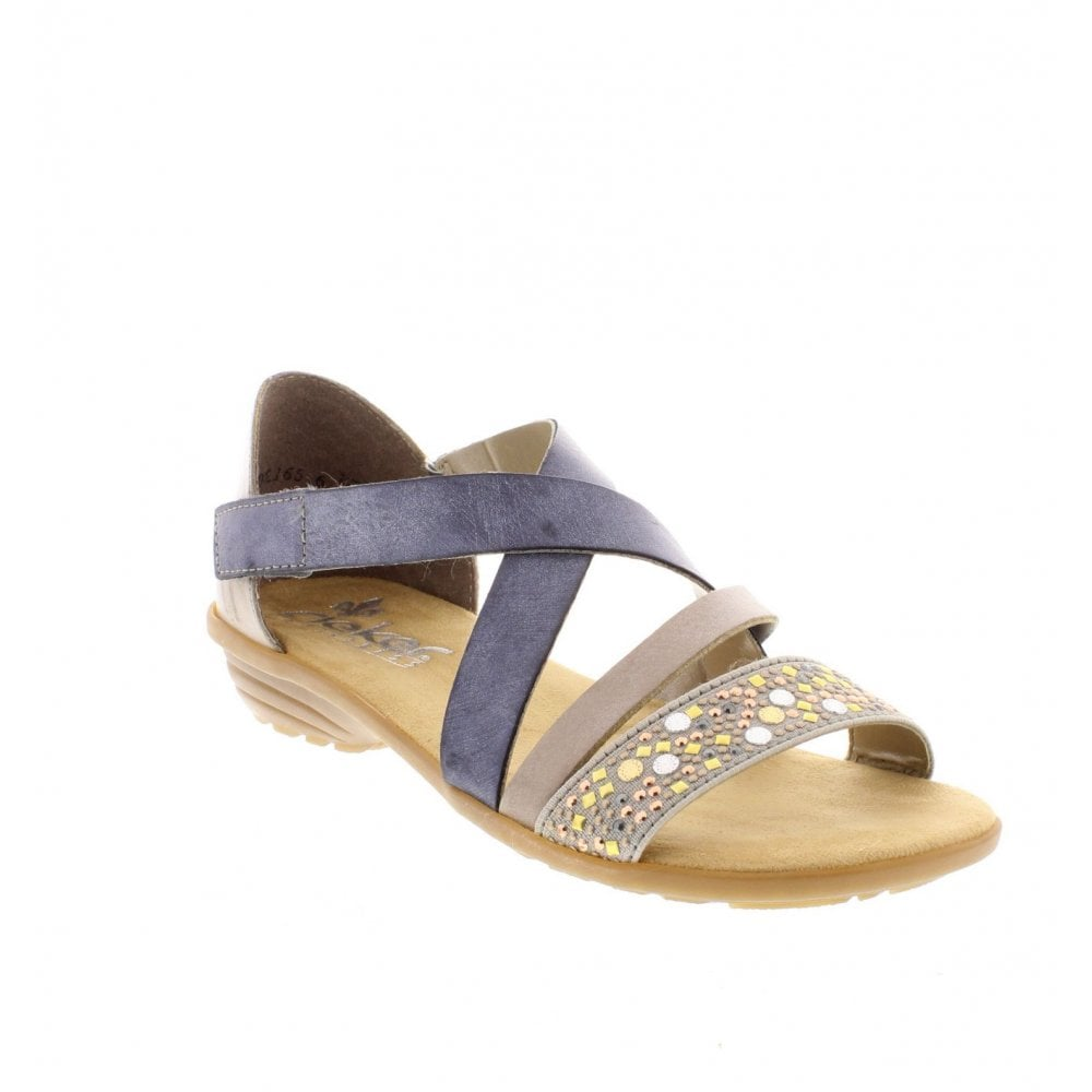 4fb66bffa14e00 Rieker V3405-42 Ladies Grey Combination Sandals - Rieker Ladies from ...