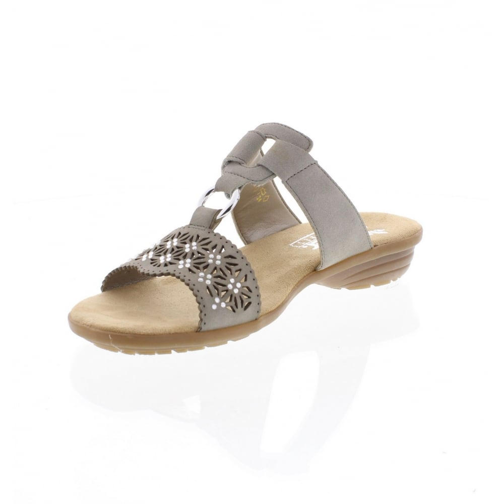 V3411 60 Ladies' stone sandals