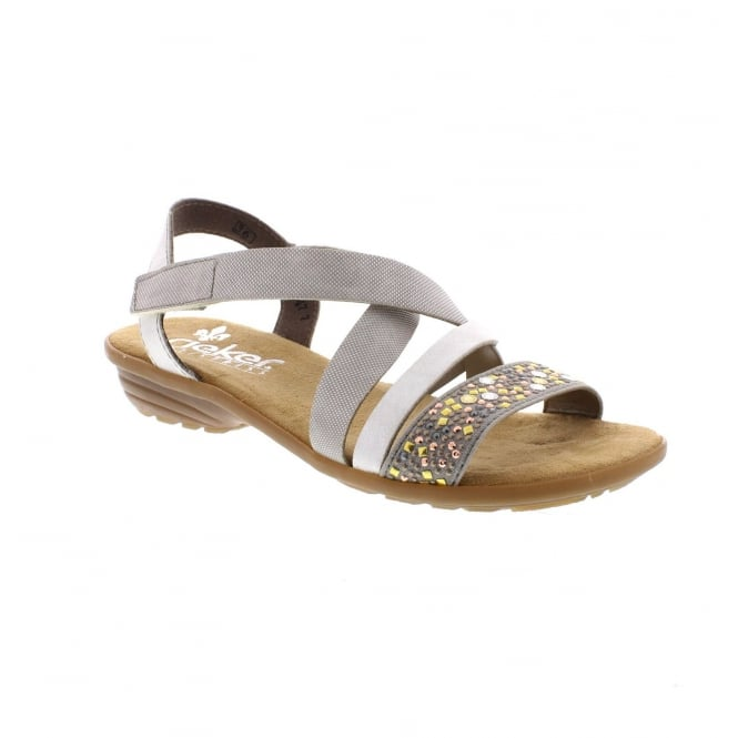 Rieker V3463-42 Ladies' Grey combination sandals