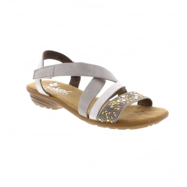 V3463-42 Ladies' Grey combination sandals