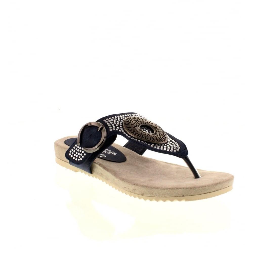 sports shoes 20d01 6987f V5360-14 Ladies Blue Velcro sandals