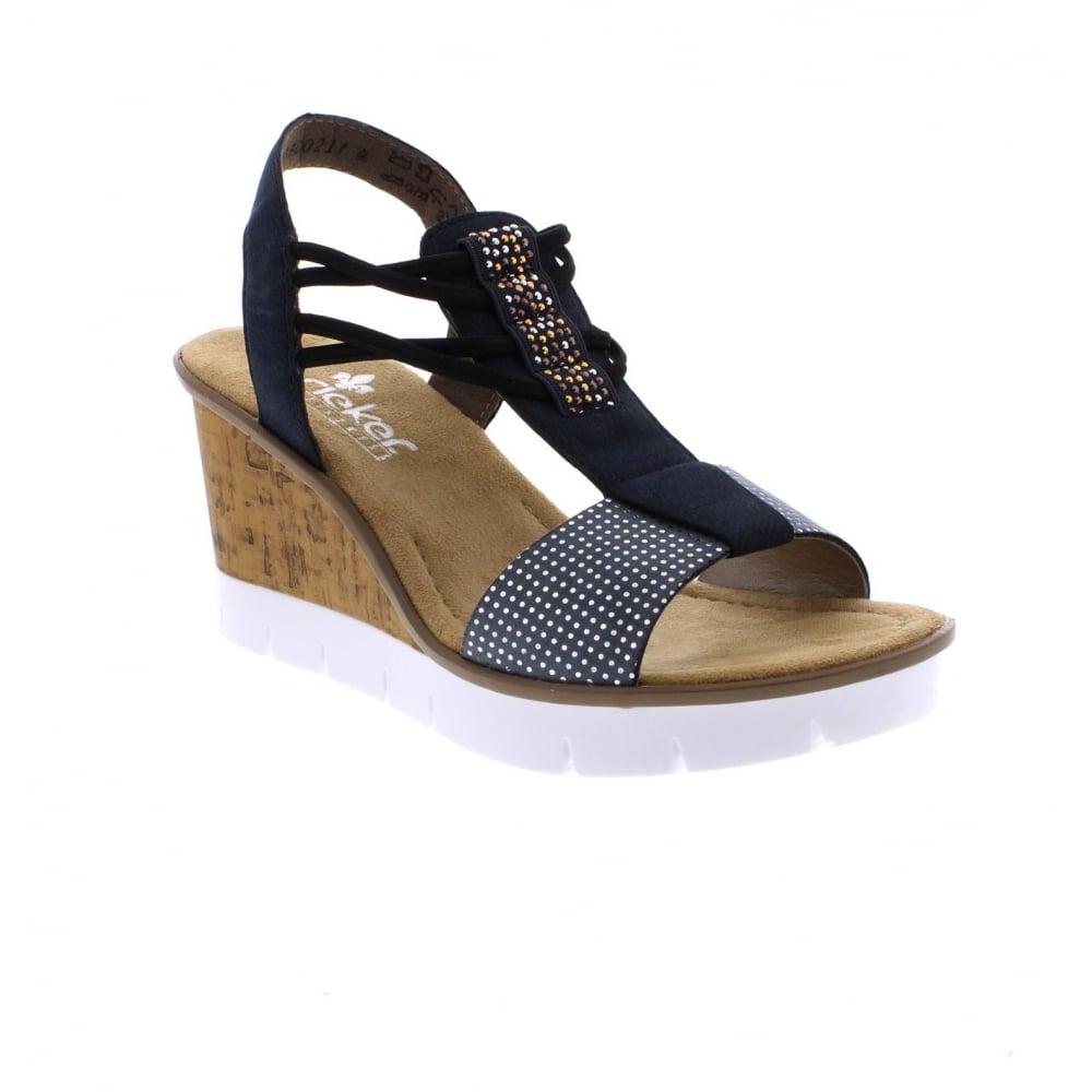 rieker v5582 12 ladies blue combination sandals rieker ladies