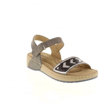 Rieker V5778-42 Ladies Grey Velcro sandals