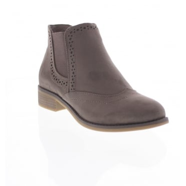 Rieker X9763-64 Womens mushroom coloured ankle boots