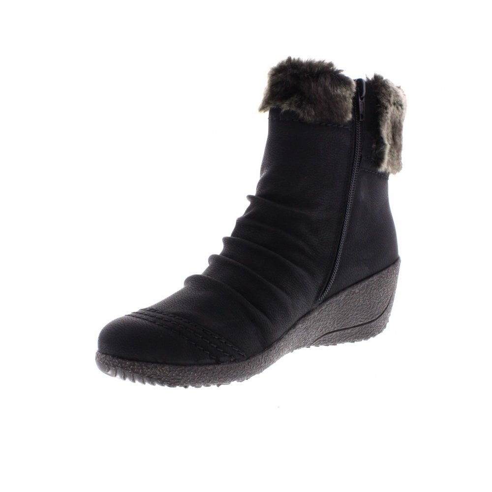 Rieker Y0363 Black Kombi Womens Boots from Legend Footwear